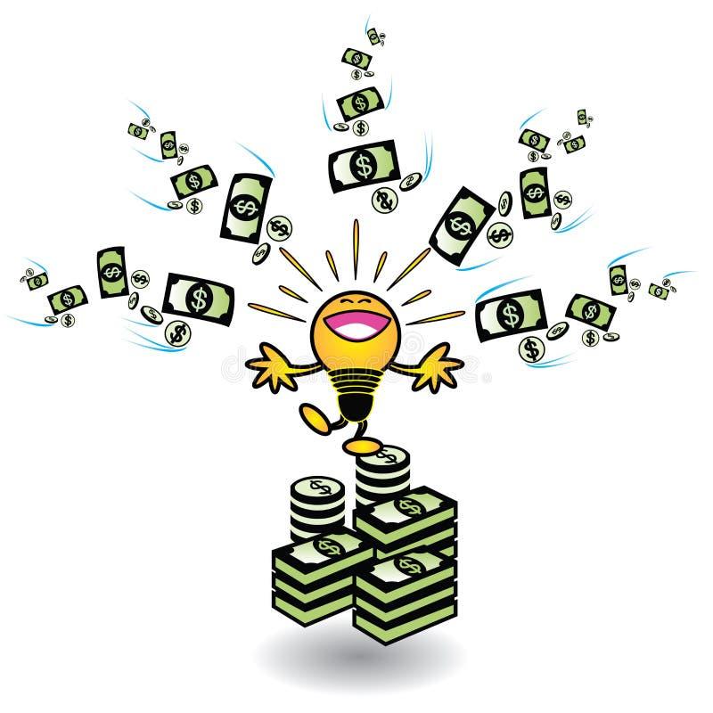 Ιδέες που κάνουν τα χρήματα διανυσματική απεικόνιση