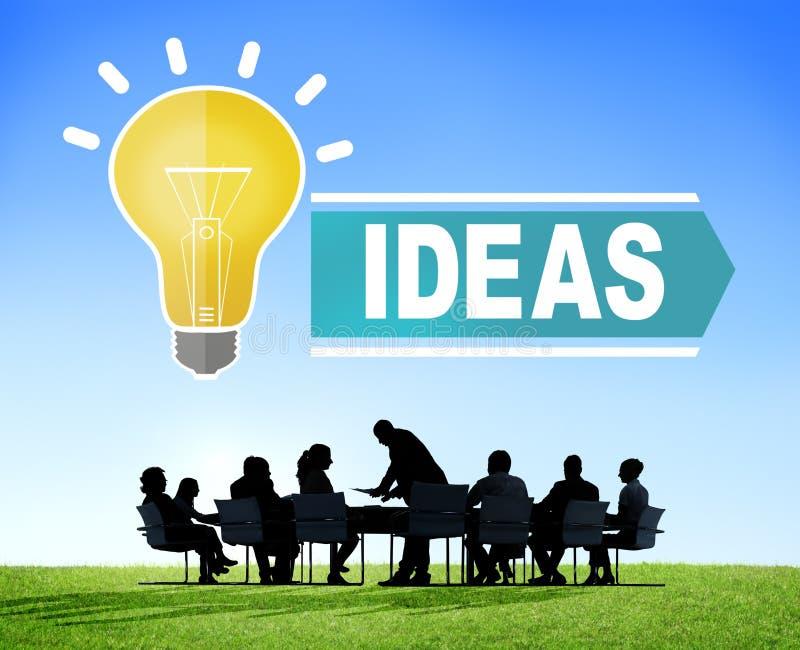 Ιδέες φιλοδοξιών που σκέφτονται την έννοια στρατηγικής οράματος καινοτομίας απεικόνιση αποθεμάτων