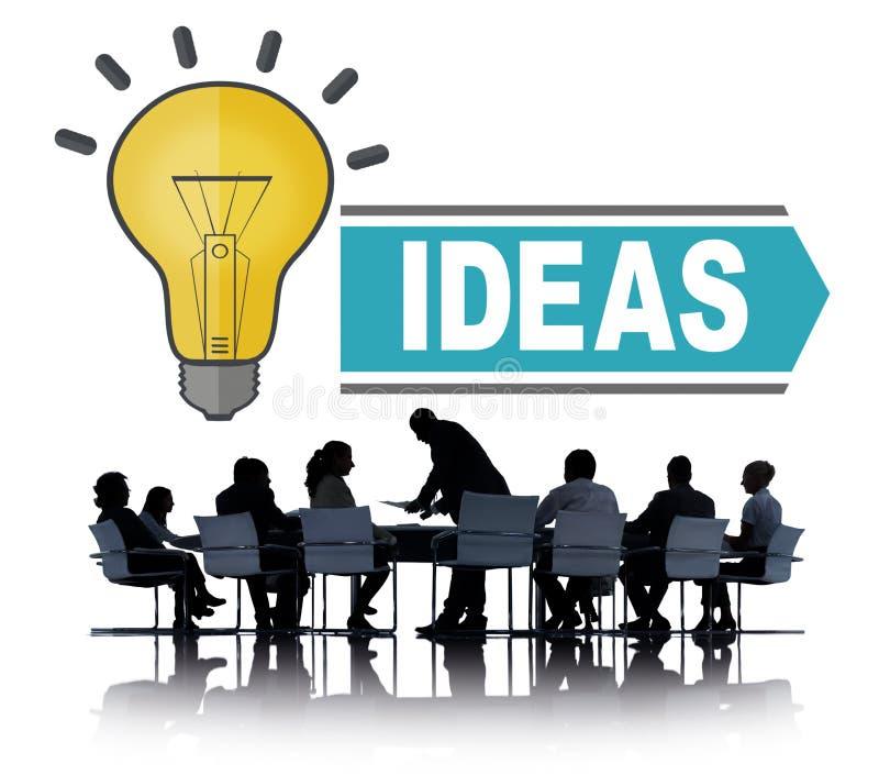 Ιδέες φιλοδοξιών που σκέφτονται την έννοια στρατηγικής οράματος καινοτομίας στοκ εικόνες