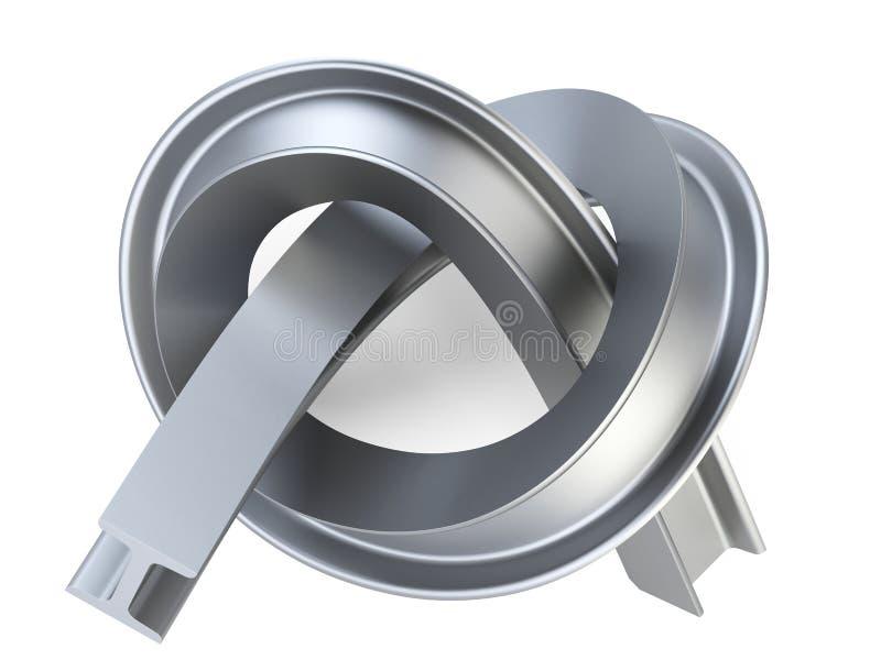 Ι-ακτίνα χάλυβα που στρίβεται από έναν κόμβο ελεύθερη απεικόνιση δικαιώματος