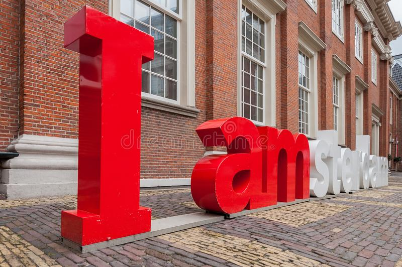 Ι επιστολές του Άμστερνταμ στο προαύλιο του μουσείου του Άμστερνταμ στοκ φωτογραφίες