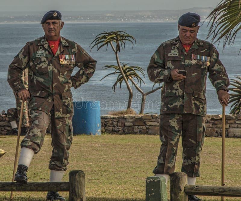 Ιδιαίτερα διακοσμημένα μέλη SANDF στοκ εικόνα