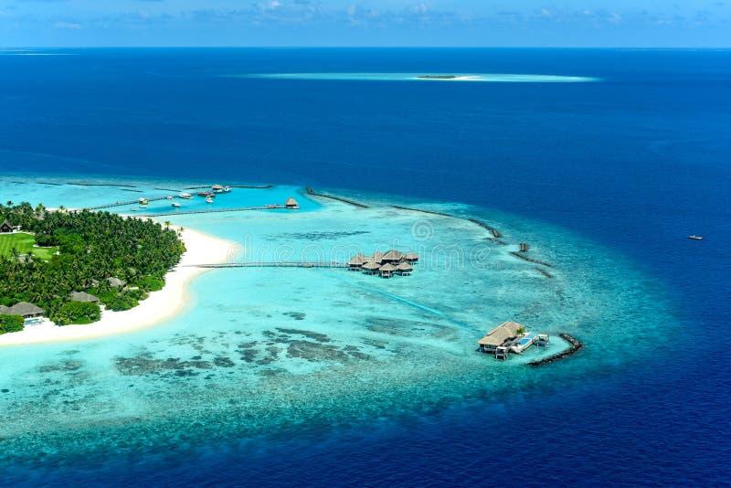 Ιδιωτική ατόλλη Maavelaavaru Noonu νησιών Velaa στοκ εικόνες