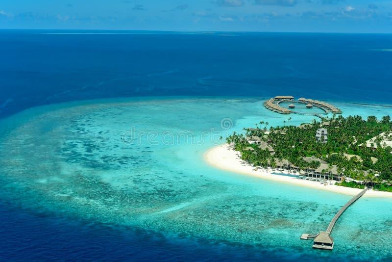 Ιδιωτική ατόλλη Noonu νησιών Velaa στοκ εικόνα