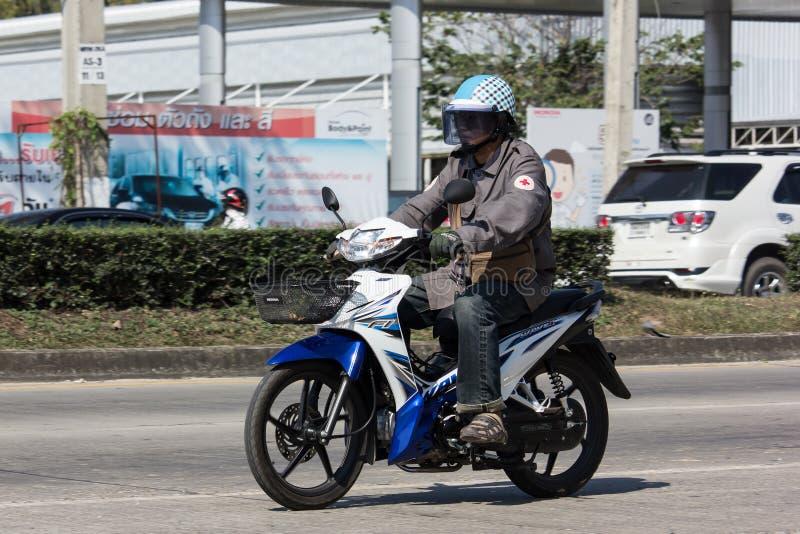 Ιδιωτική μοτοσικλέτα κυμάτων της Honda στοκ εικόνα