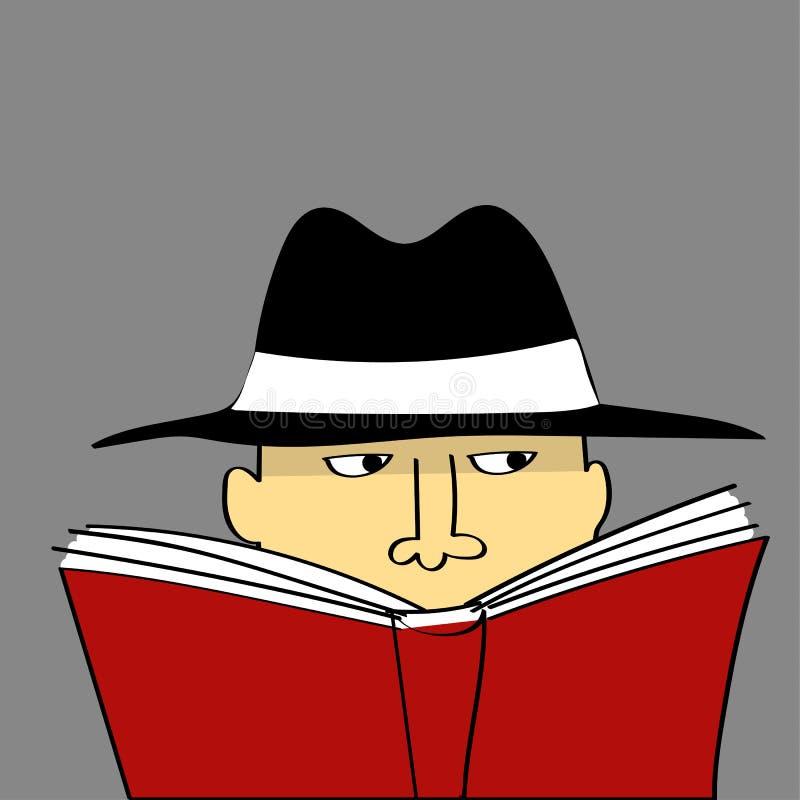 Ιδιωτικός μάτι ή κατάσκοπος διανυσματική απεικόνιση