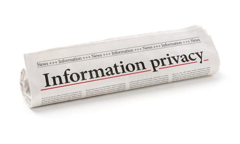 Ιδιωτικότητα πληροφοριών στοκ εικόνες