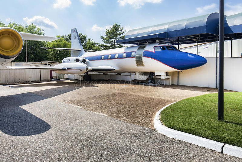 Ιδιωτικό αεριωθούμενο αεροπλάνο του Elvis Presley στοκ εικόνες με δικαίωμα ελεύθερης χρήσης