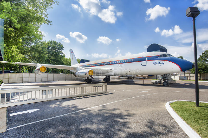 Ιδιωτικό αεροπλάνο του Elvis Presley, η Lisa Marie στοκ φωτογραφίες