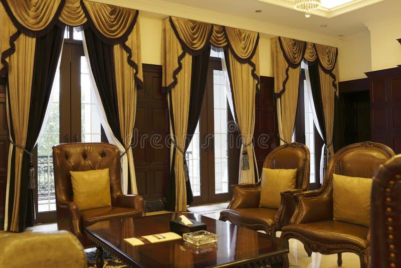 Ιδιωτικό δωμάτιο συνεδρίασης λεσχών πολυτελές στοκ εικόνα με δικαίωμα ελεύθερης χρήσης