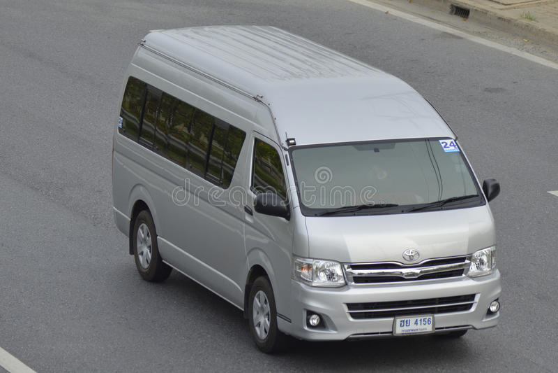 Ιδιωτικό van car TOYOTA φορτηγό στοκ φωτογραφία με δικαίωμα ελεύθερης χρήσης