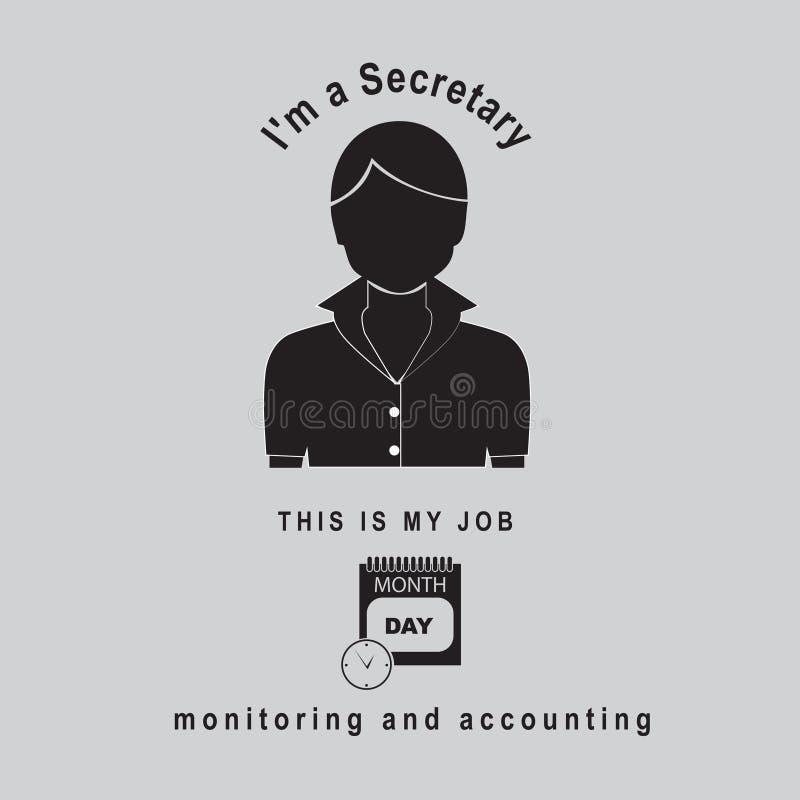 Ι ` μ ένας γραμματέας - έλεγχος και λογαριασμός ελεύθερη απεικόνιση δικαιώματος