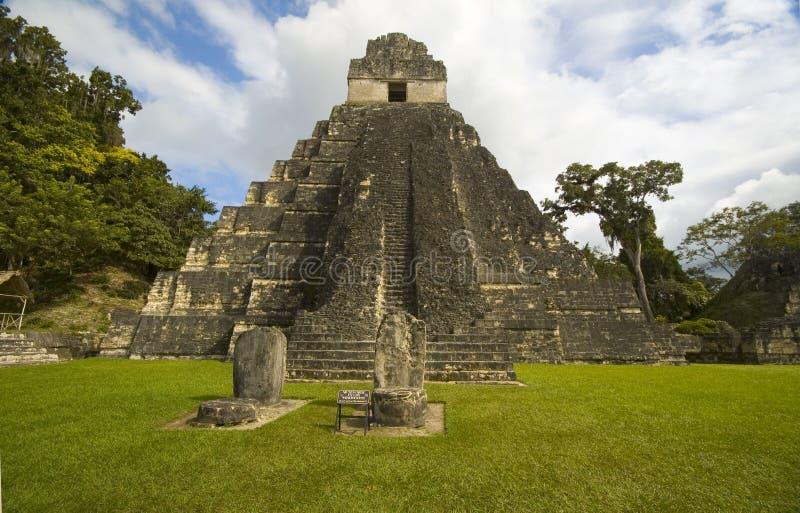 ι ναός tikal στοκ εικόνα