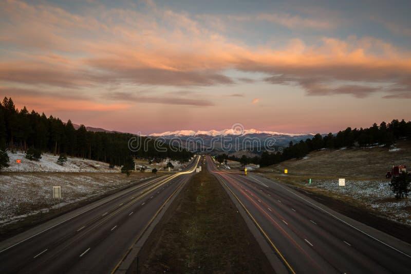 Ι-70 δύση, Κολοράντο στοκ φωτογραφία με δικαίωμα ελεύθερης χρήσης