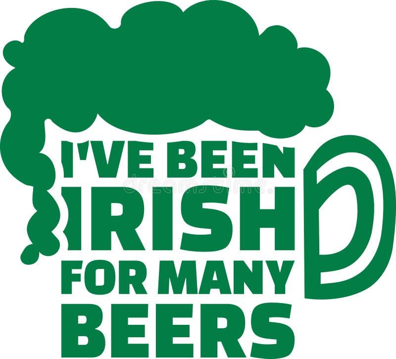 Ι ` VE όντας ιρλανδικά για πολλούς ιρλανδικό ρητό μπυρών απεικόνιση αποθεμάτων