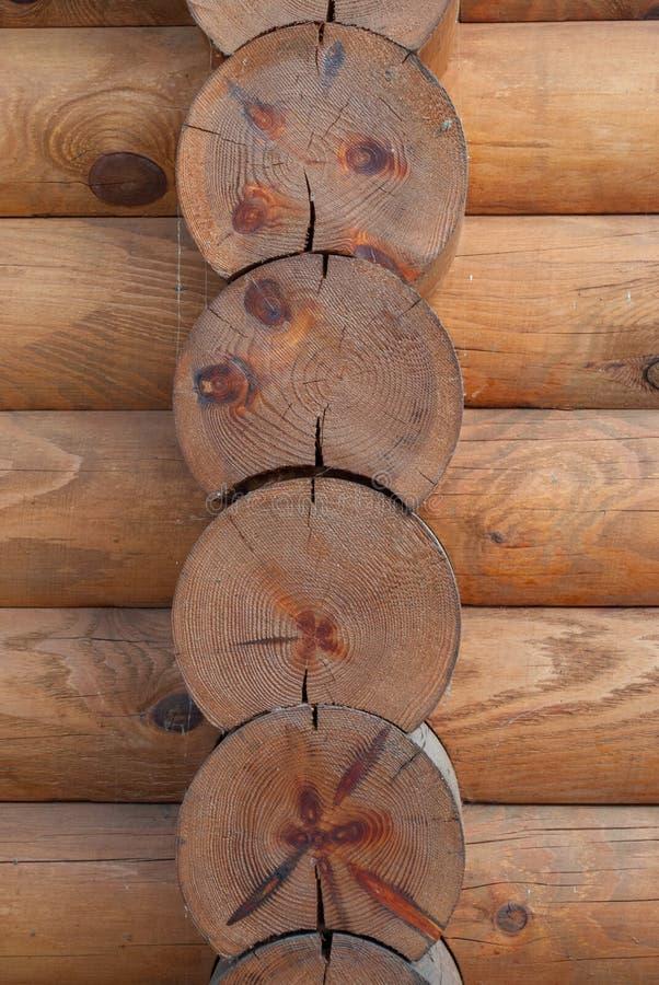 Κάθετα ξύλινα κούτσουρα, φυσικό ξύλο πλαισίων στοκ φωτογραφίες με δικαίωμα ελεύθερης χρήσης