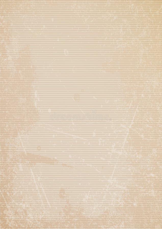 Κάθετες αναδρομικές γρατσουνιές οριζόντιων γραμμών υποβάθρου εγγράφου καφετιές απεικόνιση αποθεμάτων