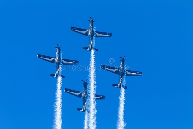 Κάθετο πέταγμα Acrobatics αεροπλάνων στοκ εικόνα με δικαίωμα ελεύθερης χρήσης