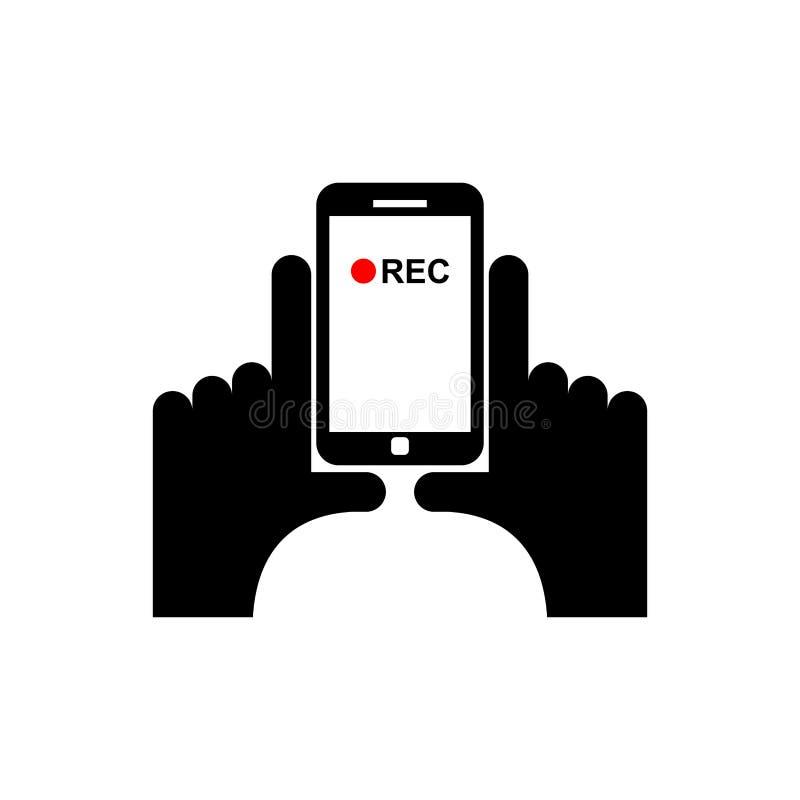 Κάθετο τηλεοπτικό σημάδι Αρχείο χεριών και smartphone διανυσματική απεικόνιση