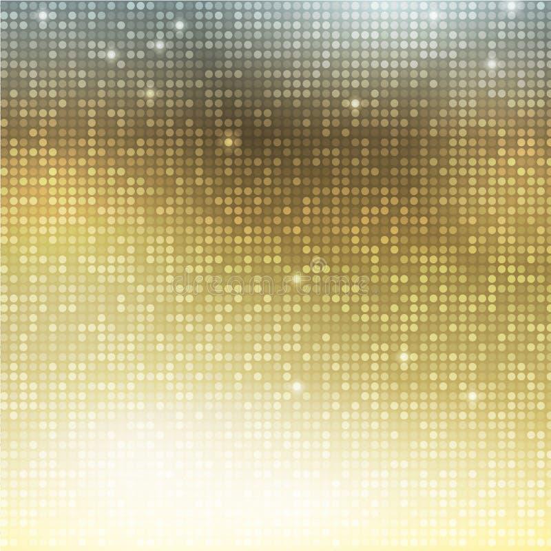 Κάθετο χρυσό μωσαϊκό απεικόνιση αποθεμάτων