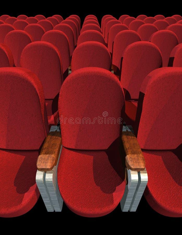 κάθισμα κινηματογράφων ελεύθερη απεικόνιση δικαιώματος