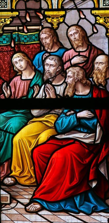 Κάθοδος του ιερού πνεύματος σε Pentecost στοκ εικόνες