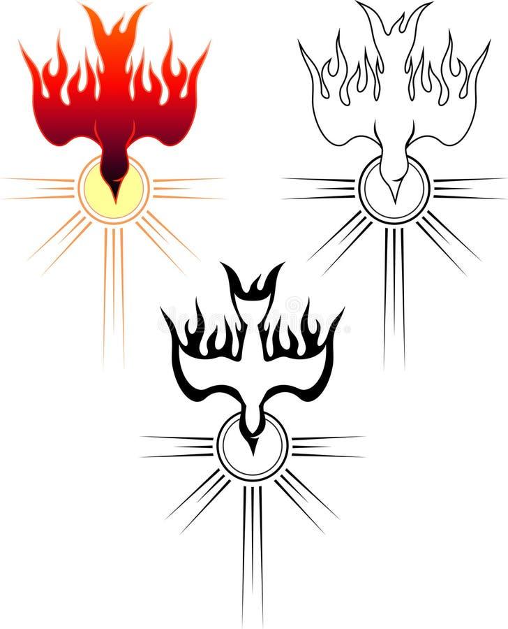 Κάθοδος του ιερού πνεύματος διανυσματική απεικόνιση