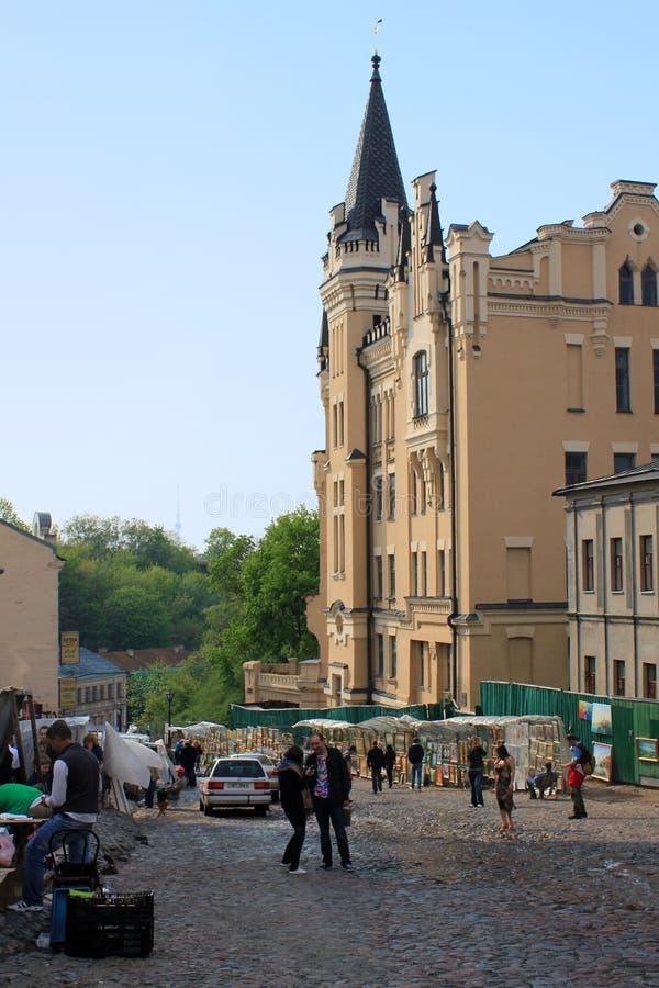 Κάθοδος Andreevsky, Κίεβο στοκ εικόνα