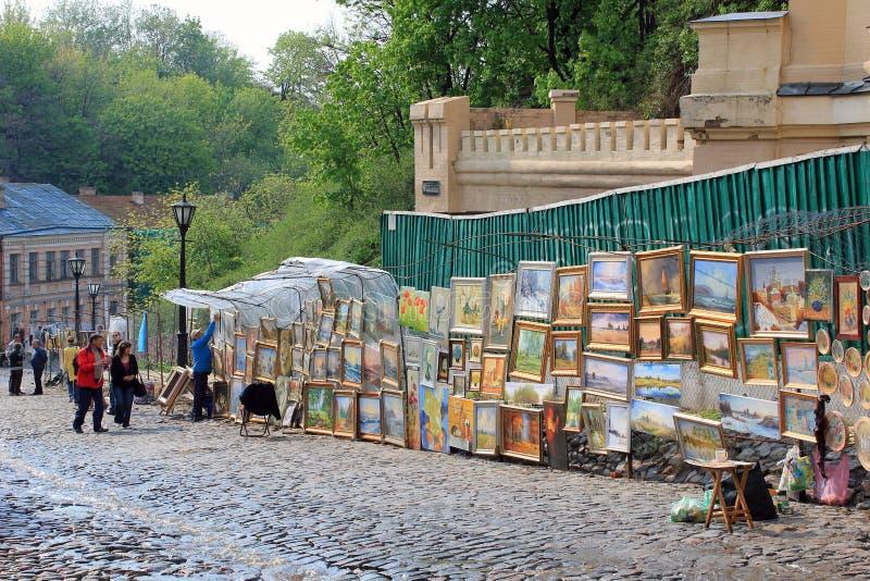 Κάθοδος Andreevsky, Κίεβο στοκ φωτογραφία