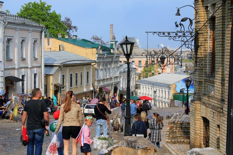 Κάθοδος Andreevsky, Κίεβο στοκ φωτογραφία με δικαίωμα ελεύθερης χρήσης