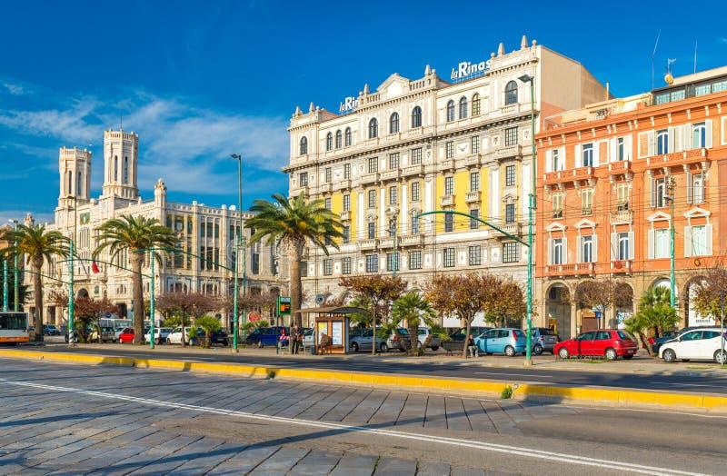 Κάλιαρι Ιταλία Σαρδηνία στοκ φωτογραφία με δικαίωμα ελεύθερης χρήσης