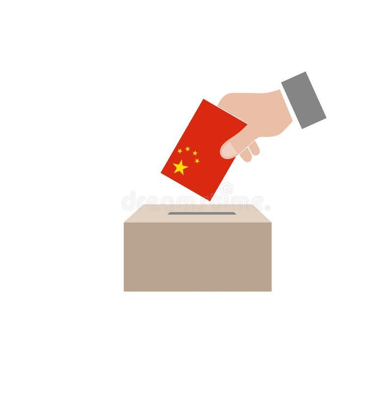 Κάλπη εκλογών της Κίνας ελεύθερη απεικόνιση δικαιώματος