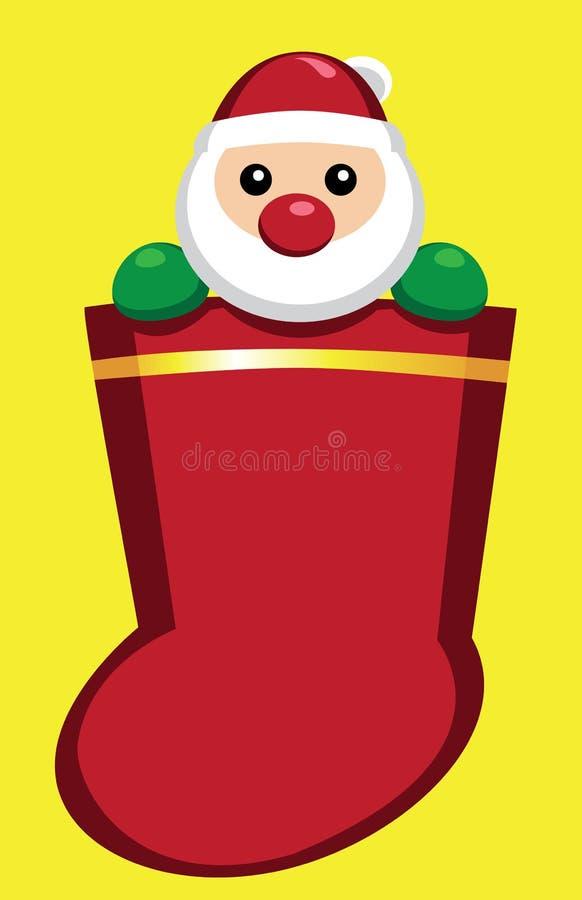 κάλτσα santa του s στοκ εικόνες