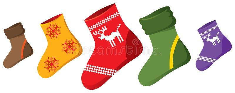 κάλτσες Χριστουγέννων ελεύθερη απεικόνιση δικαιώματος