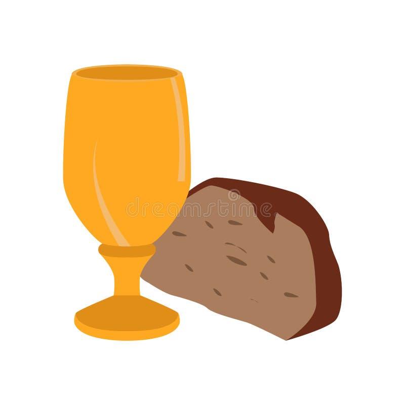 Κάλυκας με το κομμάτι ψωμιού απεικόνιση αποθεμάτων