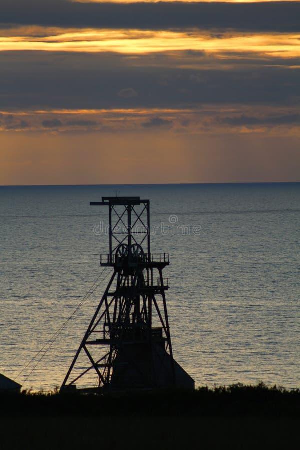 Κάλυμμα άξονων νίκης, ορυχείο κασσίτερου Geevor, Κορνουάλλη στοκ φωτογραφίες