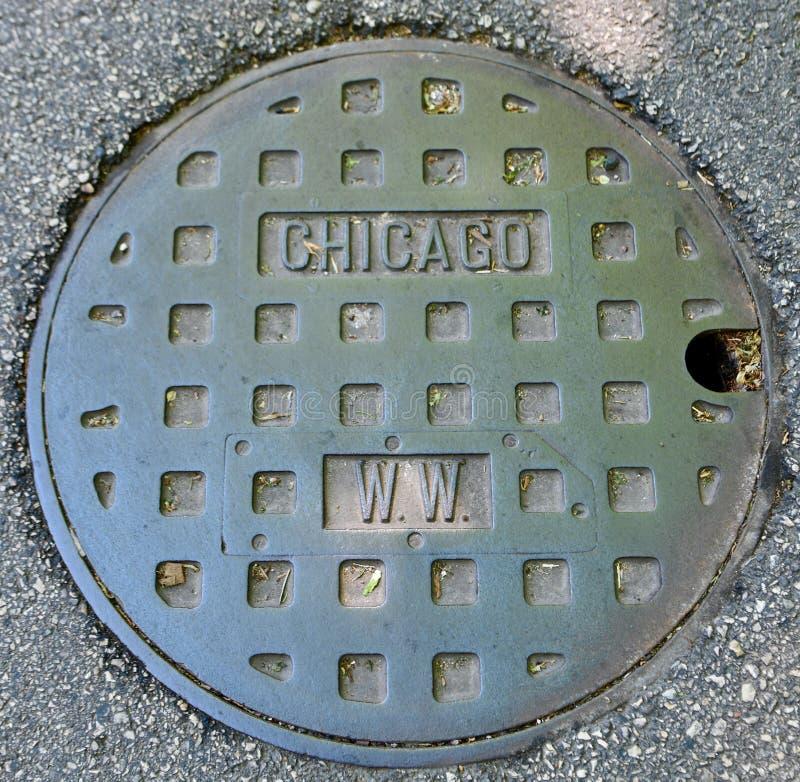 Κάλυψη καταπακτών του Σικάγου στοκ φωτογραφίες