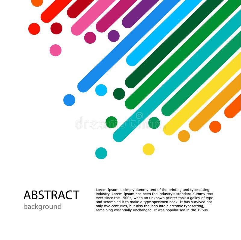 Κάλυψη με την κενή θέση για το κείμενο Γραμμές χρώματος με τα φωτεινά σημεία απεικόνιση αποθεμάτων