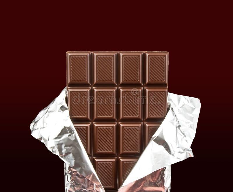 κάλυψη σοκολάτας ράβδων ανοικτή στοκ φωτογραφία