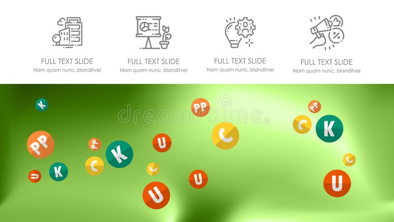 Κάλυψη φυλλάδιων που χρησιμοποιείται στο μάρκετινγκ και τη διαφήμιση απεικόνιση αποθεμάτων