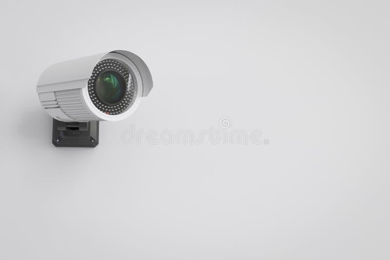Κάμερα ασφαλείας στον τοίχο στοκ φωτογραφία με δικαίωμα ελεύθερης χρήσης