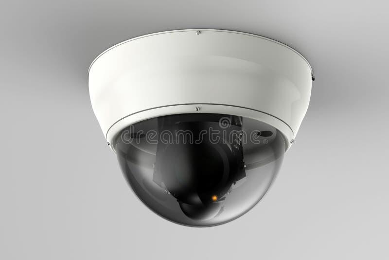 Κάμερα ασφαλείας ή κάμερα CCTV στο ανώτατο όριο στοκ φωτογραφίες