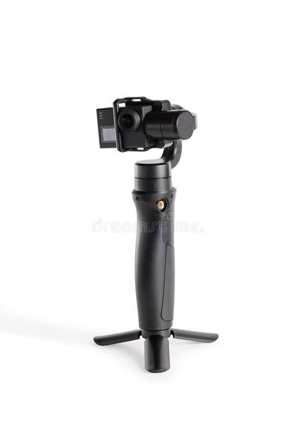 Κάμερα δράσης με σταθεροποιητή στοκ φωτογραφίες με δικαίωμα ελεύθερης χρήσης