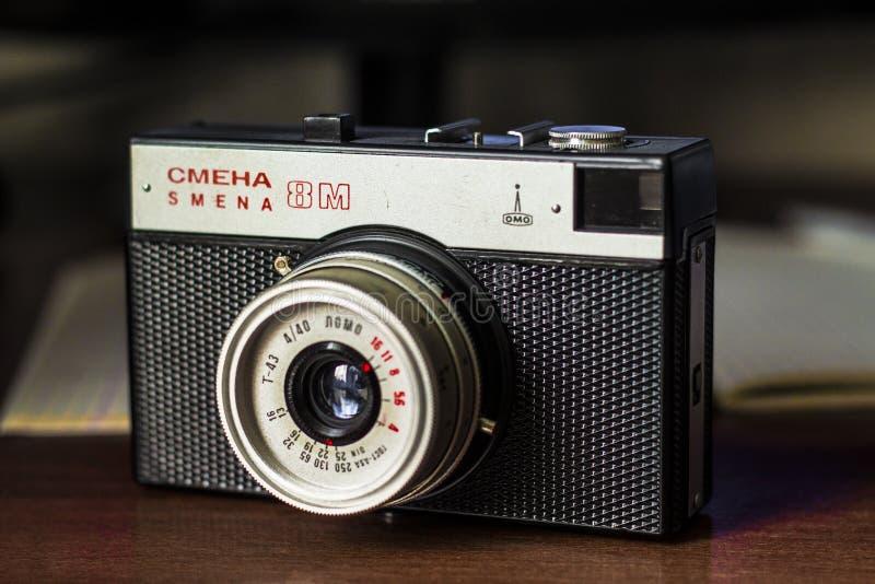 Κάμερα ΕΣΣΔ αναδρομικό Smena 8M στοκ φωτογραφίες με δικαίωμα ελεύθερης χρήσης