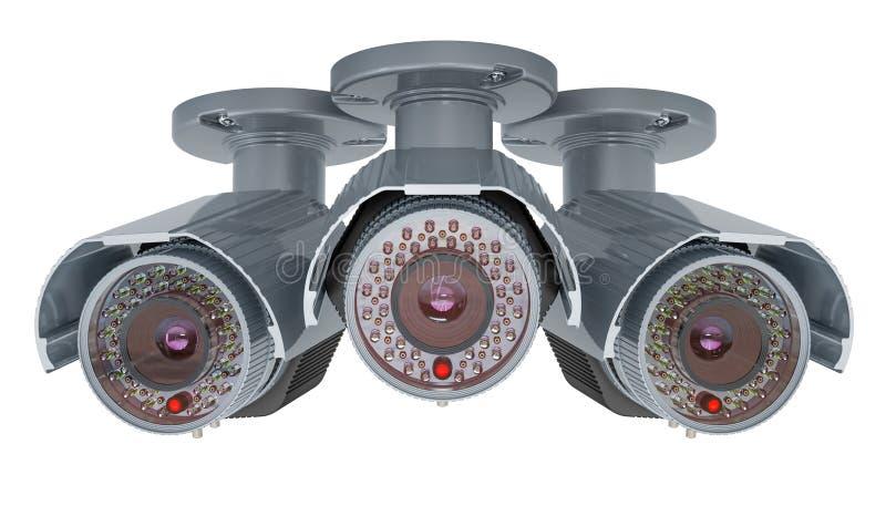 Κάμερα παρακολούθησης ασφάλειας, τρισδιάστατη απόδοση ελεύθερη απεικόνιση δικαιώματος