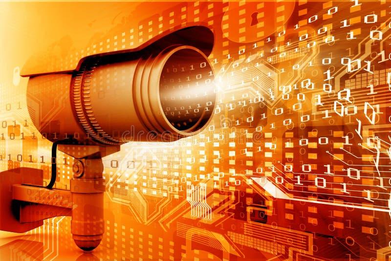 Κάμερα παρακολούθησης διανυσματική απεικόνιση