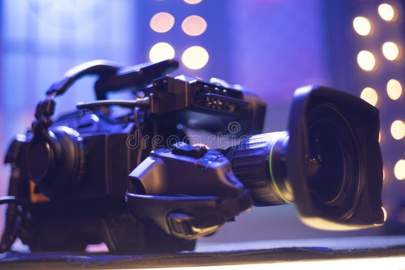 κάμερα στούντιο στη συναυλία στοκ εικόνα