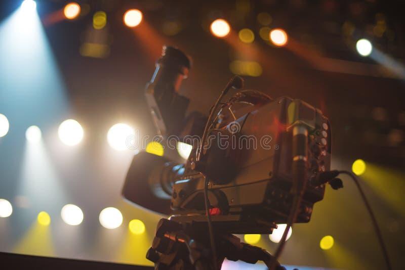 κάμερα στούντιο στη συναυλία στοκ εικόνες