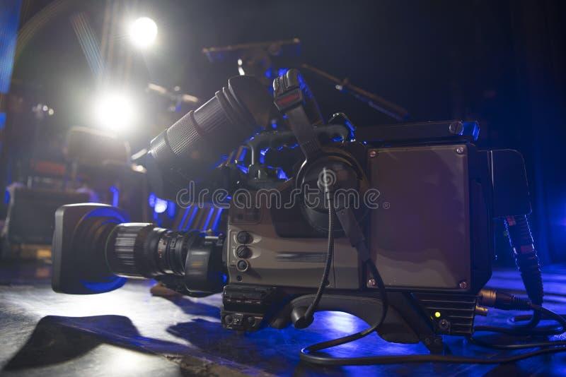 κάμερα στούντιο στη συναυλία στοκ φωτογραφία