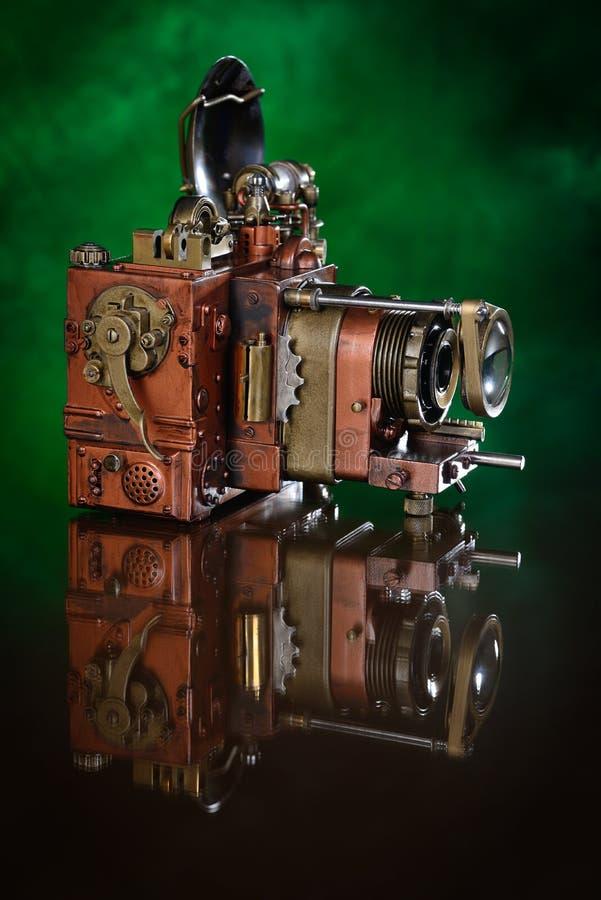 Κάμερα φωτογραφιών χαλκού. στοκ φωτογραφία